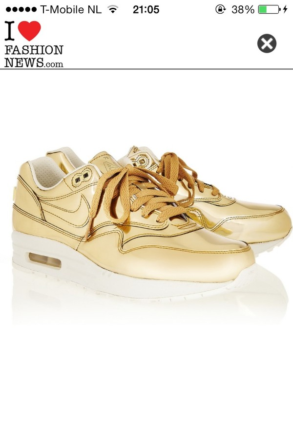 shoes gold nike air