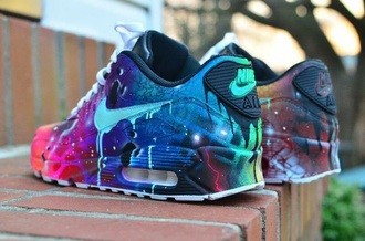 shoes sneakers multicolor air max low top sneakers nike sneakers nike multicolored rainbow nikes