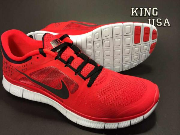 Men's Nike Free Run 3 Running Shoes 510642 602 Red Black | eBay