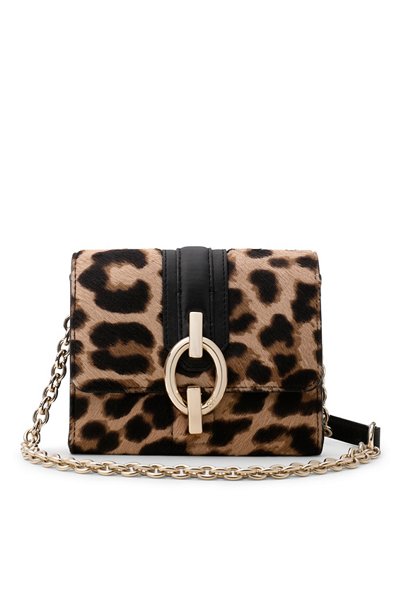Sutra Micro Mini Leopard Haircalf Crossbody Bag | Sale by DVF