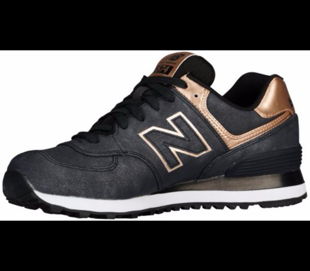 new balance noir et rose gold 574