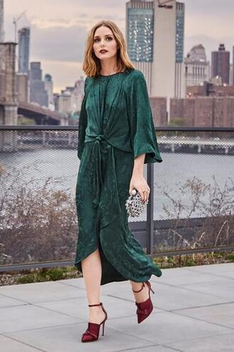 dress midi dress pumps olivia palermo blogger shoes