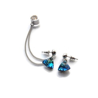 jewels bleu ear cuff blue earings earing cuff ear cuff