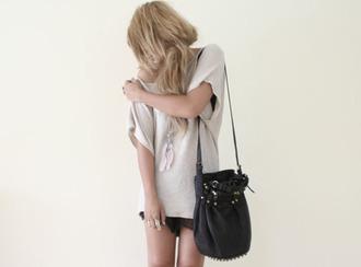 black bag leather black bag