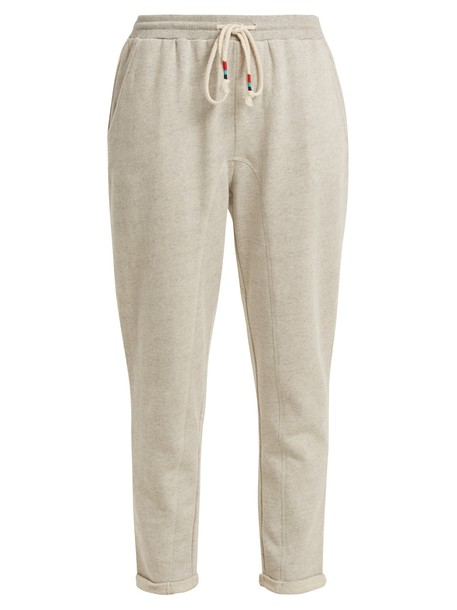 The Upside pants track pants cotton light grey