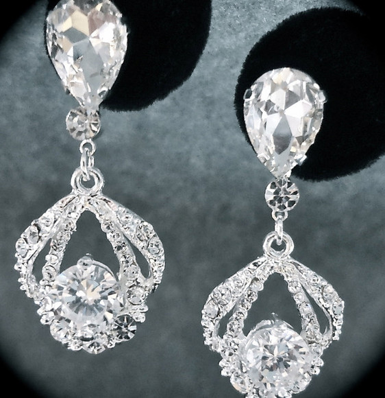 jewels earrings sparkly rhinstone