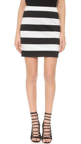 Antonio Berardi skirt striped skirt white black