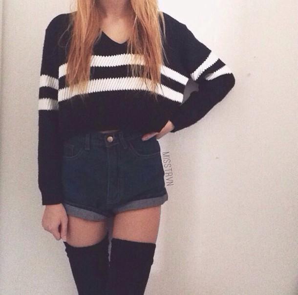 socks shorts style sweater t-shirt
