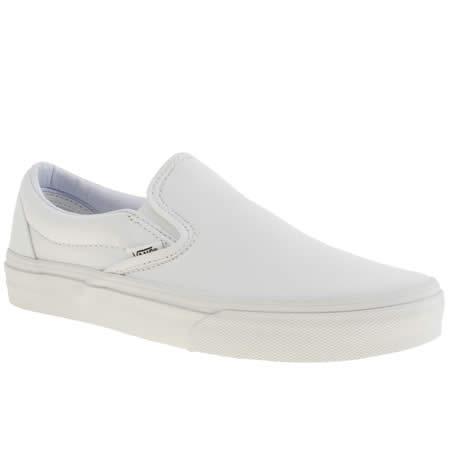 Womens White Vans Classic Slip Trainers | schuh