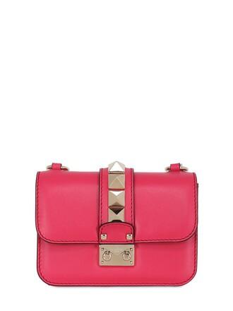 mini bag shoulder bag leather coral