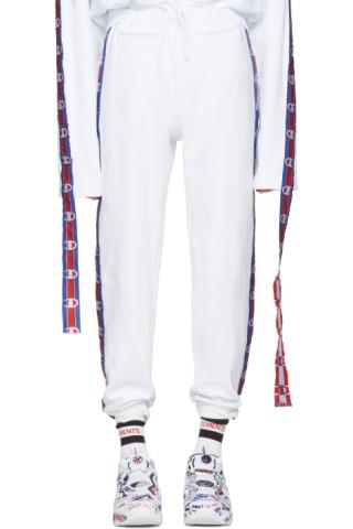 afa086b7526974 Vetements - White Champion Edition Tape Track Pants