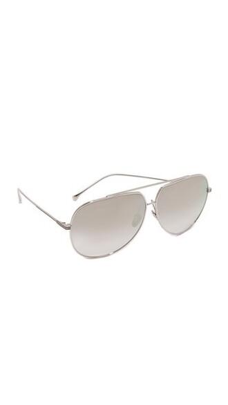 sunglasses aviator sunglasses gold silver grey