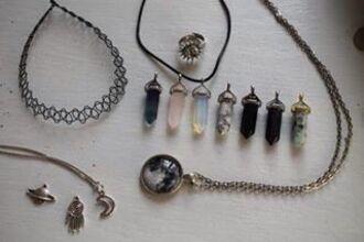 jewels jewelry necklace choker necklace tattoo choker quartz crystal quartz natural stone natural stone necklace