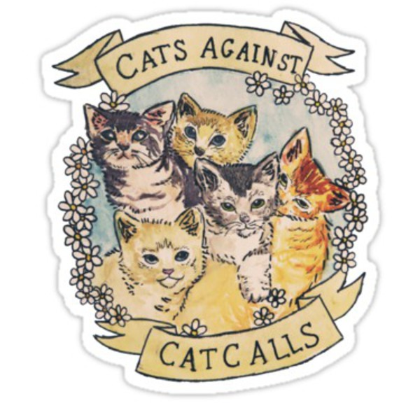 jewels cats print girly funny stickers patch computer sticker