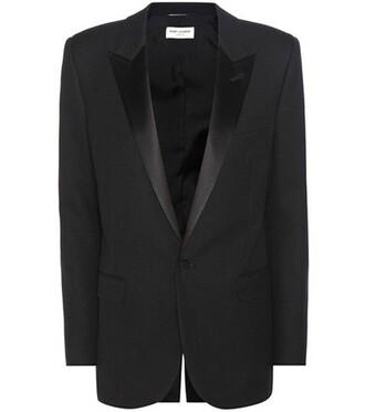 jacket wool satin black