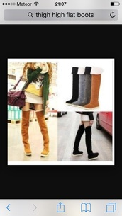 shoes,style,boots,brown booties,thigh highs,above the knee