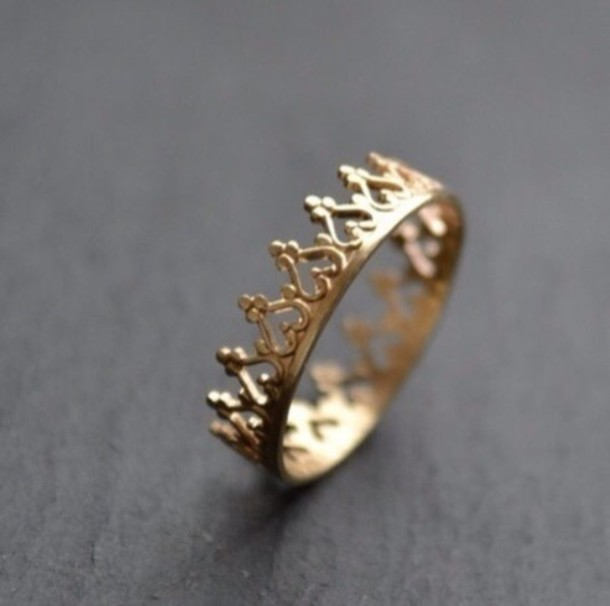 jewels picture from we heart it crown ring gold ring wow