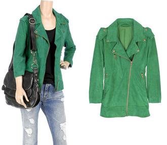 jacket green green jacket green perfecto perfecto
