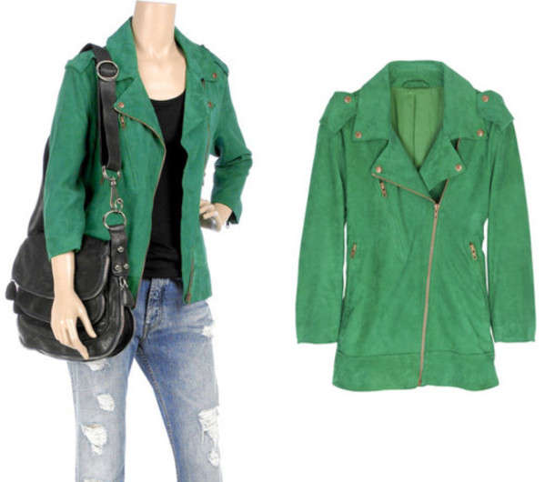 green green jacket green perfecto perfecto jacket