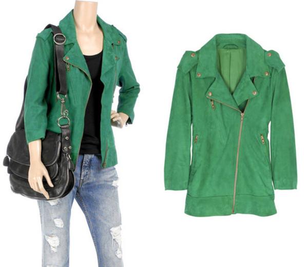 green green jacket green perfecto perfecto jacket