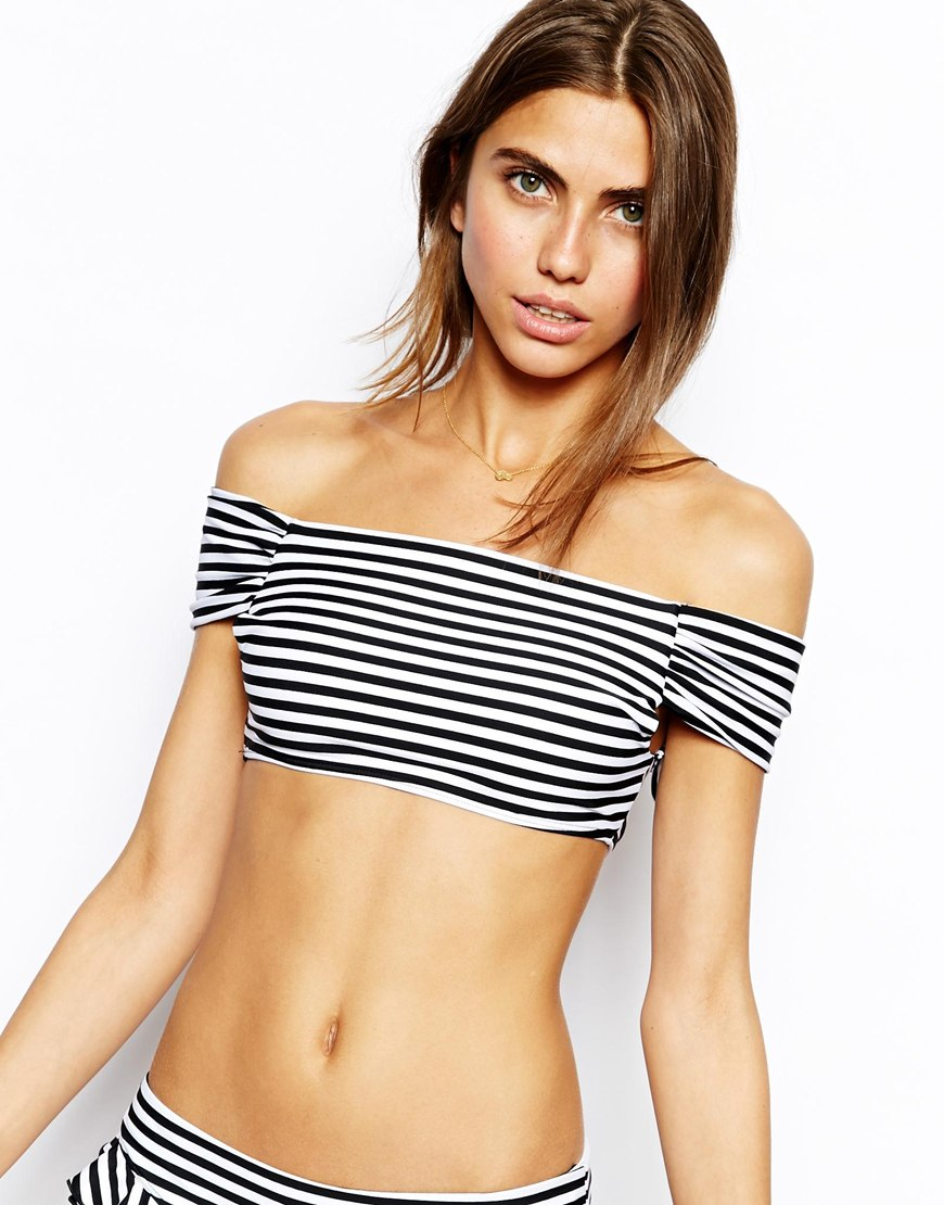 Lolli Abra Cadabra Off The Shoulder Crop Top at asos.com