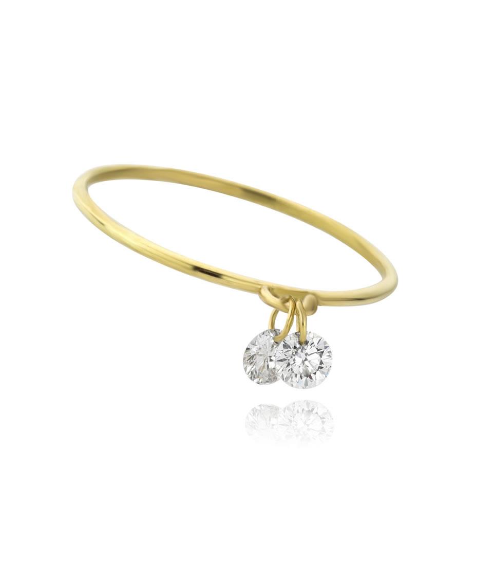 Nude Diamond - Clover Nude Diamond Engagement Ring