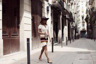 frassy blogger dress hat bag shoes top pants