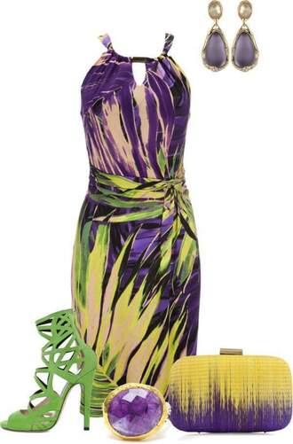 dress purple dress bags and purses
