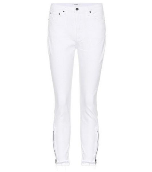 Grlfrnd Kendall skinny jeans in white