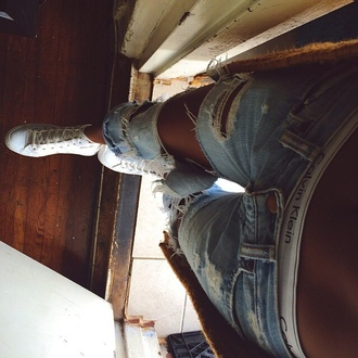 jeans ripped jeans sneakers low rise style blue jeans