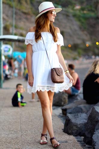 marilyn's closet blog blogger off the shoulder dress white dress summer dress