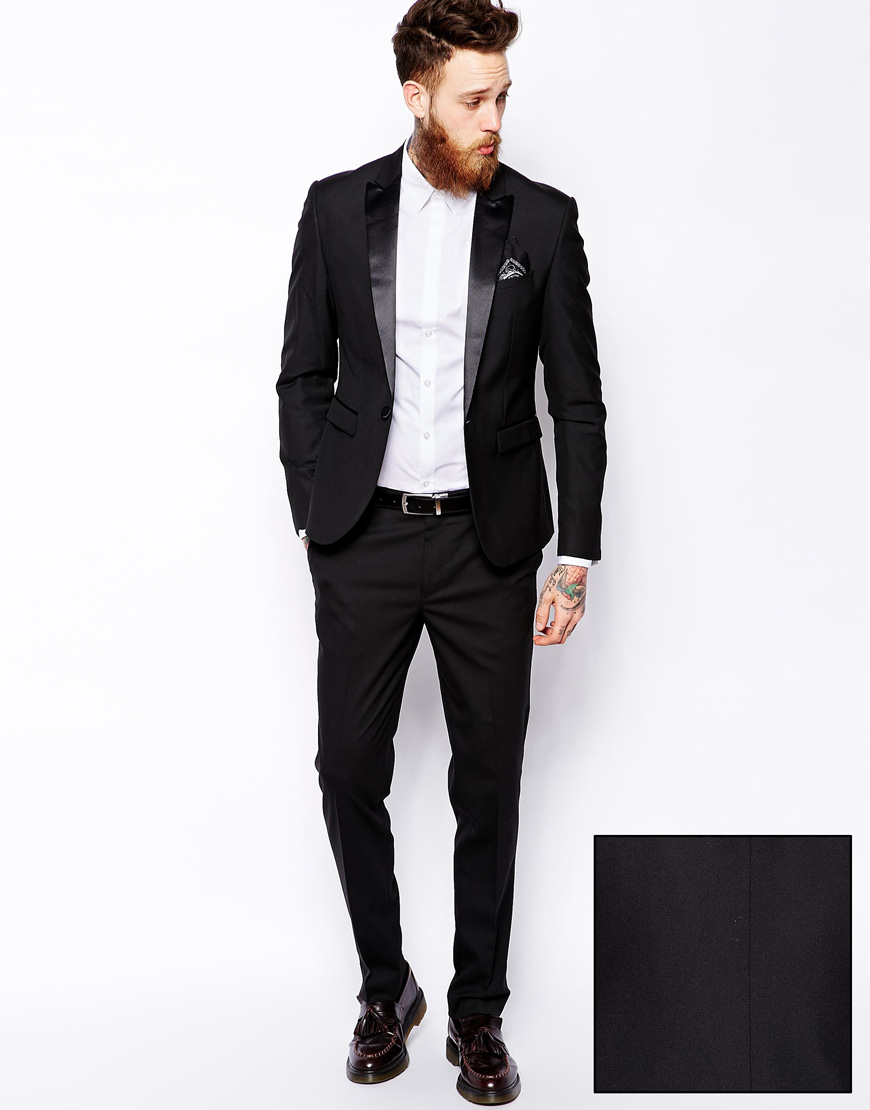 Tuxedo Suit in Slim Fit at asos.com