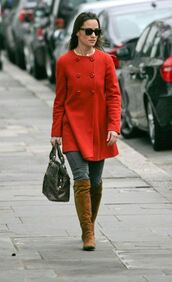 jeans,pippa middleton,grey jeans,coat