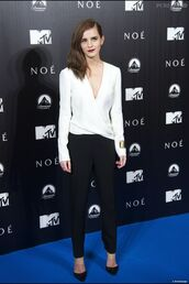 blouse,immaculate,white,emma watson,red carpet
