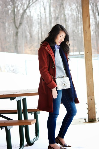 refined couture blogger red coat winter coat