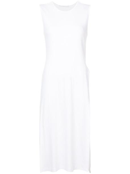 Rosetta Getty vest long women white cotton jacket
