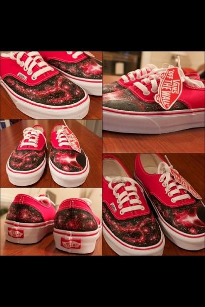 vans galaxy rouge