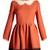 Wave-neck jour-échelle trimmed dress