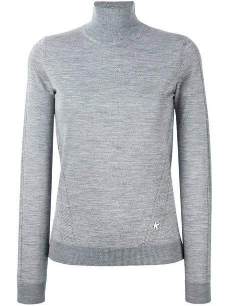 Kenzo jumper women wool grey sweater