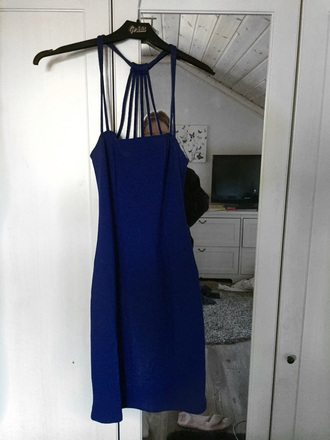 dress blue straps blue dress bodycon dress bodycon strapless dress strappy dress short dress gorgeous dress