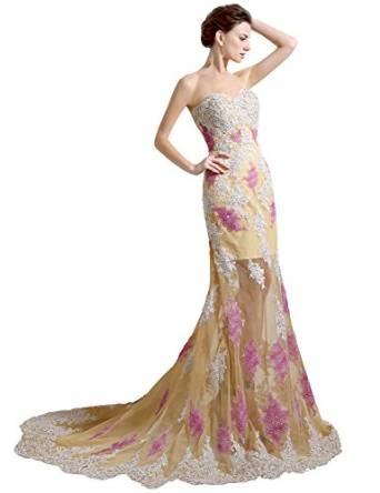 a10821c7bc8 Clearbridal Women s Sexy Mermaid Evening Prom Dress Sweetheart ...