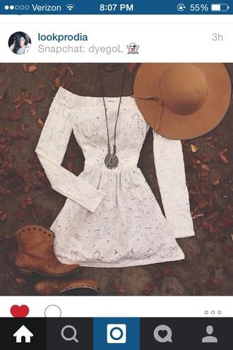 dress white off the shoulder boho