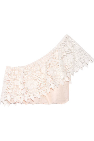 top cropped pastel lace cotton pink pastel pink