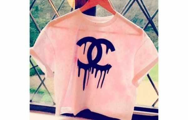 shirt chanel crop tops tank top t-shirt teenagers tumblr tumbler tumblr girl girly fashio dope dope shit summer