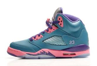 shoes jordans blue pink purple