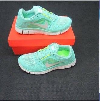 shoes nike free run nike running shoes mint
