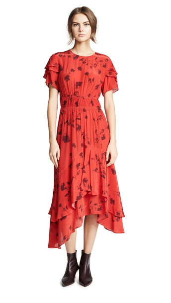 Preen By Thornton Bregazzi Preen Line Esther Dress in black / red