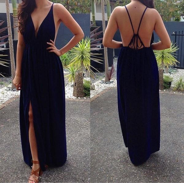 dress navy dress maxi dress