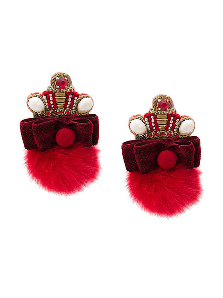 Ranjana Khan women earrings red jewels