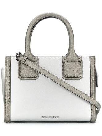 mini women leather grey bag